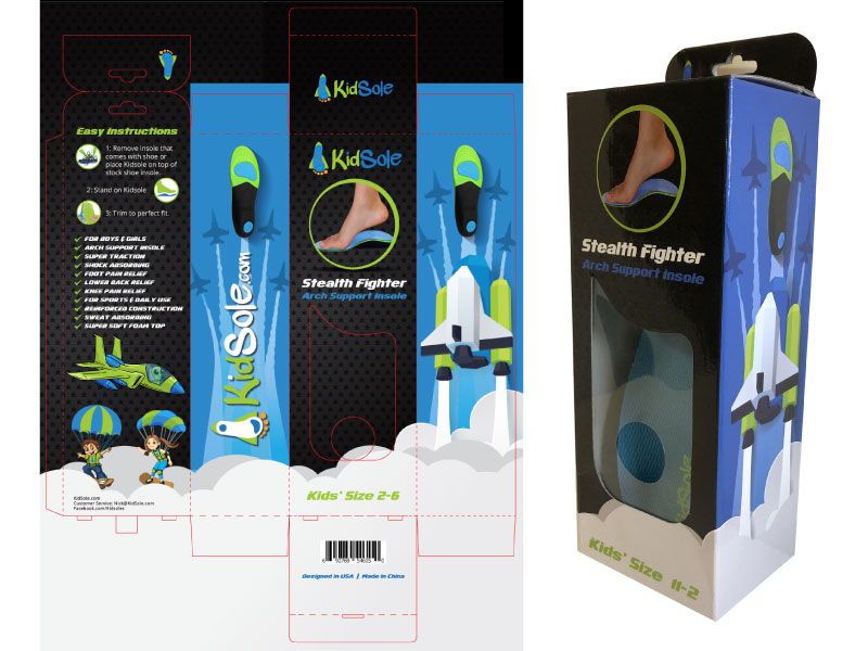 Stealth-Fighter-Kidsole-packaging